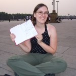 With my sketchbook at Tiananmen Square